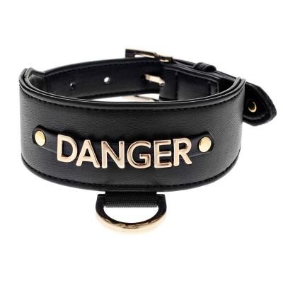 Ferribiella Le DangeRouge Collare Levriero Danger Nero per Cani