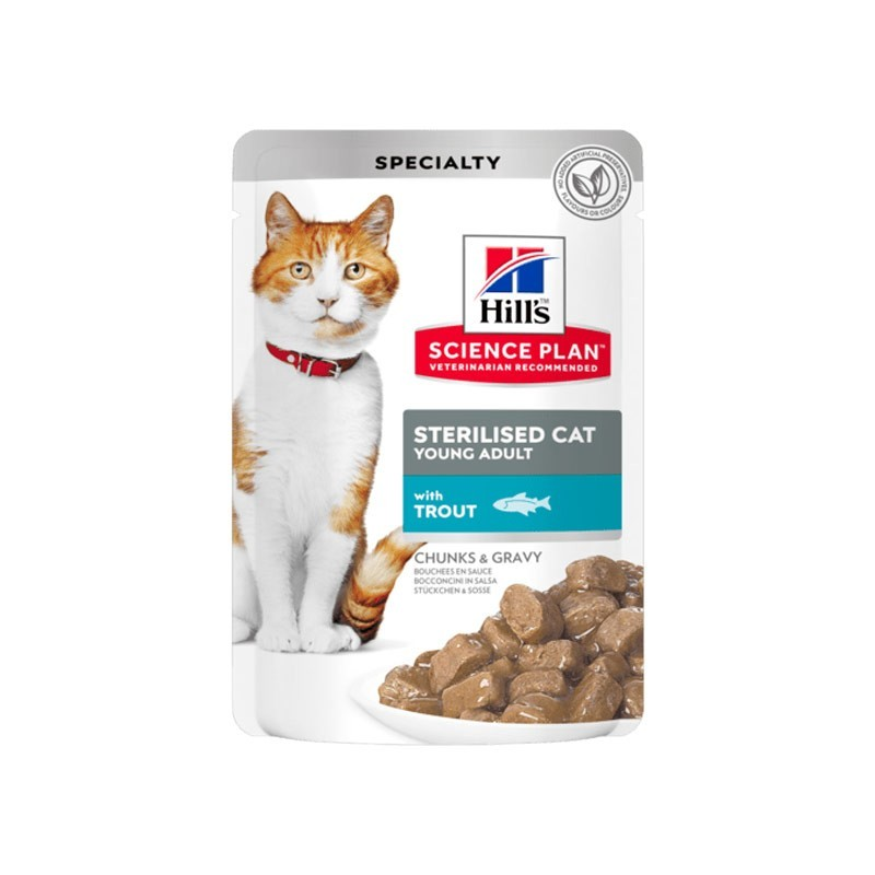 Hill's Science Plan Feline Young Adult Sterilised con Trota in Busta