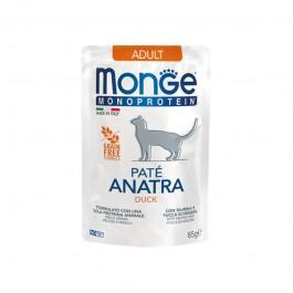 Monge Cat Adult Monoprotein Paté Anatra per Gatti