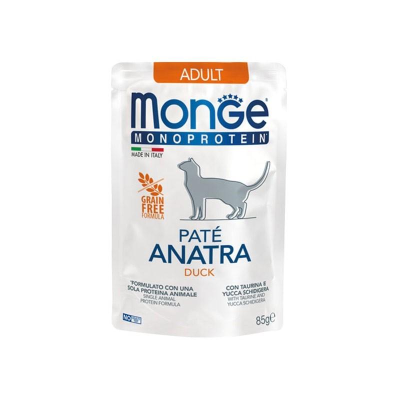 Monge Adult Monoprotein Paté Anatra per Gatti