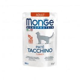 Monge Cat Adult Monoprotein Paté Tacchino per Gatti