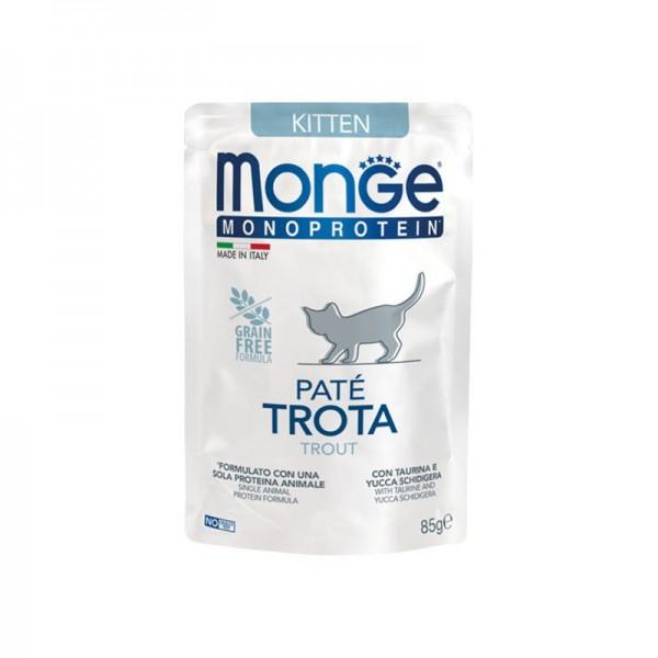 Monge Kitten Monoprotein Paté Trota per Gatti