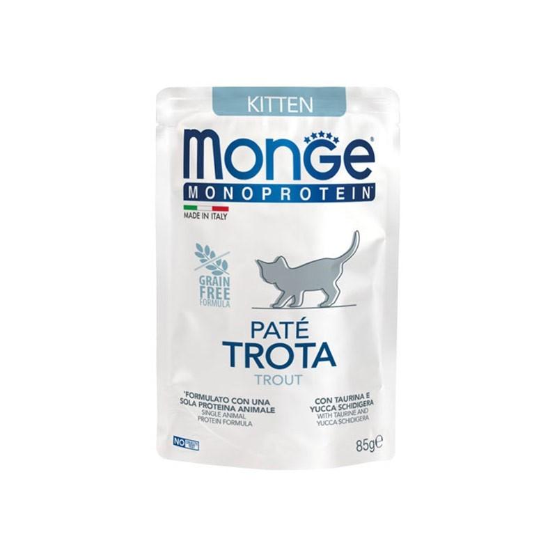 Monge Kitten Monoprotein Paté Trota per Gattini