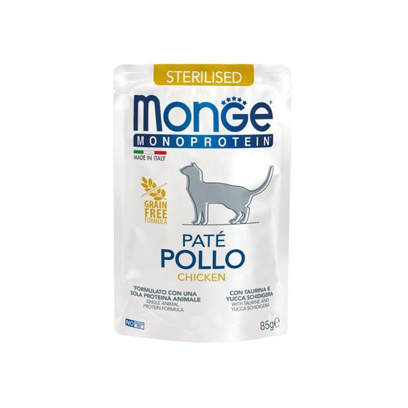 Monge Sterilised Pollo Monoprotein Paté per Gatti