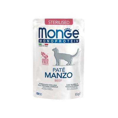 Monge Cat Sterilised Monoprotein Paté Manzo per Gatti
