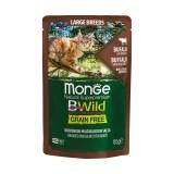 Monge BWild Grain Free Large Breeds Bufalo con Ortaggi Bocconcini in Salsa per Gatti