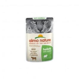 Almo Nature Cat Holistic Anti Hairball con Manzo per Gatti 70gr