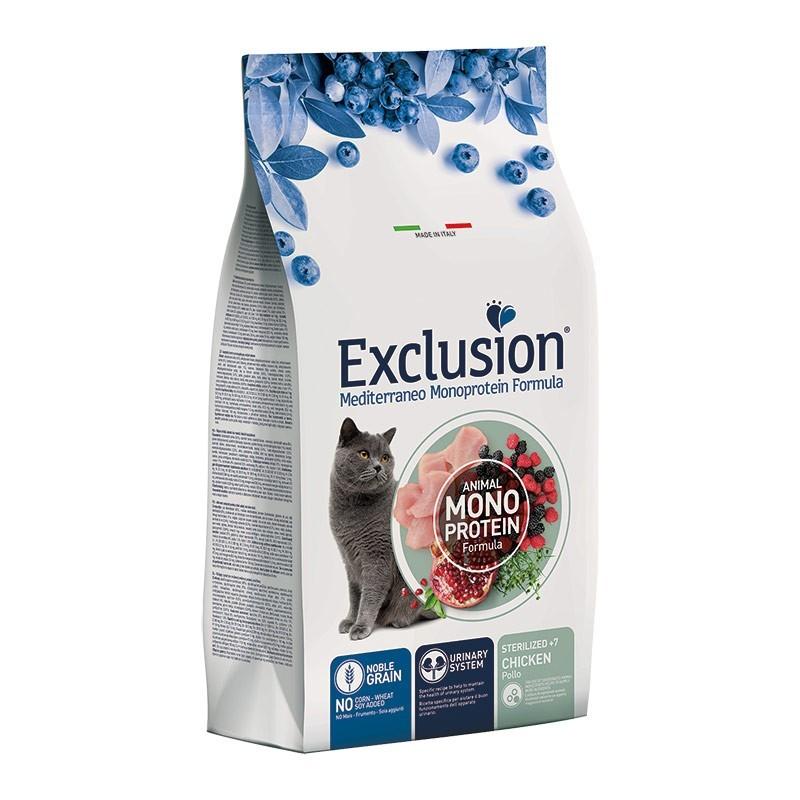 Exclusion Cat Mediterraneo Noble Grain Sterilized +7 al Pollo