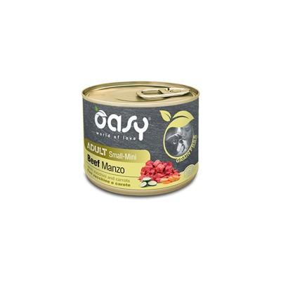Oasy Grain Free Adult Small Mini Manzo