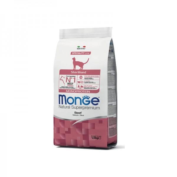 Monge Cat Natural Superpremium Sterilised Manzo