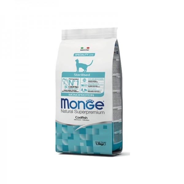 Monge Cat Natural Superpremium Sterilised Merluzzo