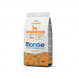 Monge Cat Natural Superpremium Light Tacchino