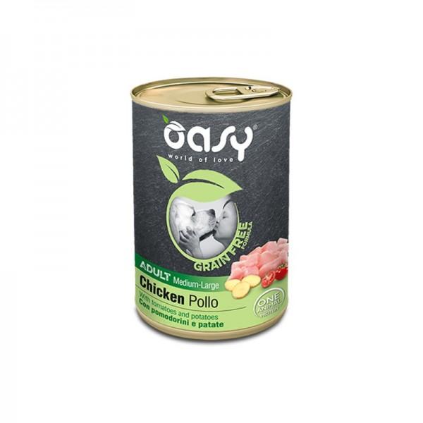 Oasy Grain Free Adult Medium Large Pollo