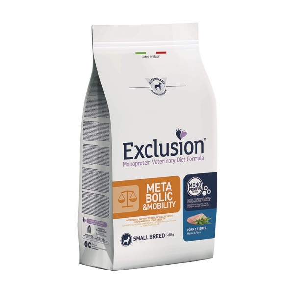 Exclusion Vet Diet Metabolic & Mobility Umido Small Breed Maiale e Fibre