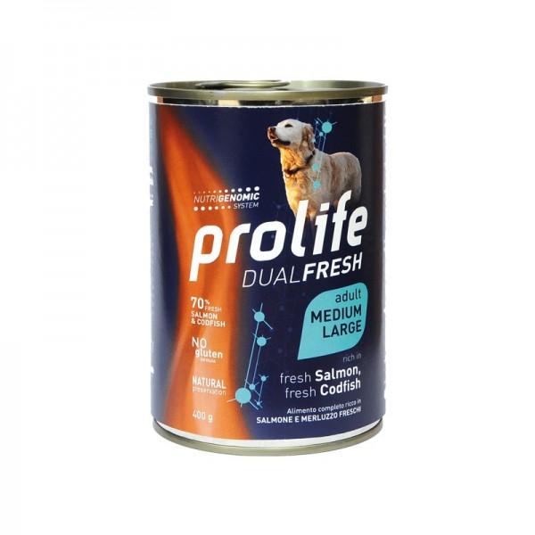 Prolife Dog Dual Fresh Adult Medium/Large Salmone e Merluzzo Umido