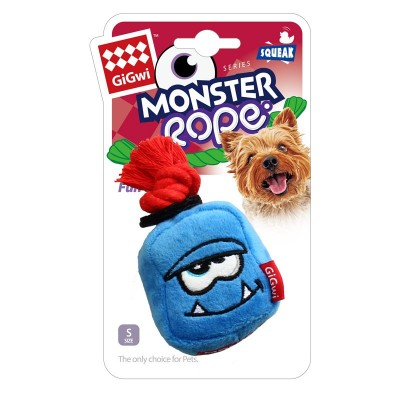 Gigwi Blue Monster Rope Gioco per Cani con Squeaker