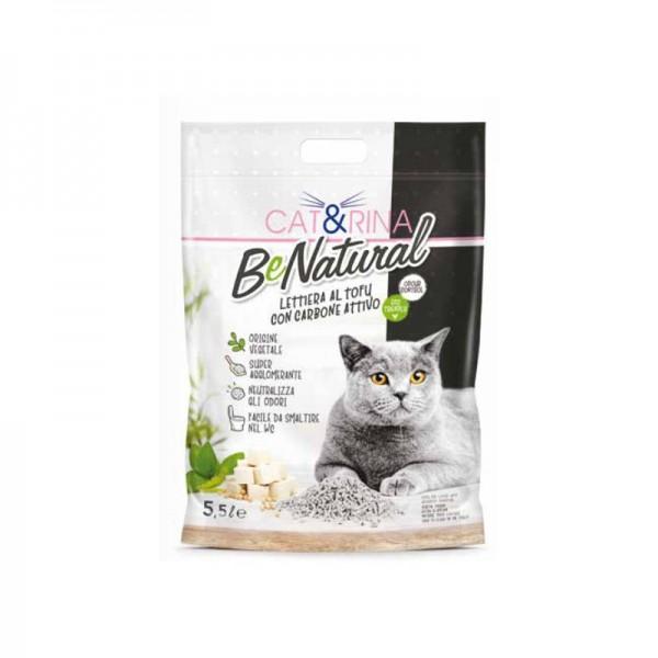 Cat&Rina Be Natural Lettiera al Tofu con Carbone Attivo