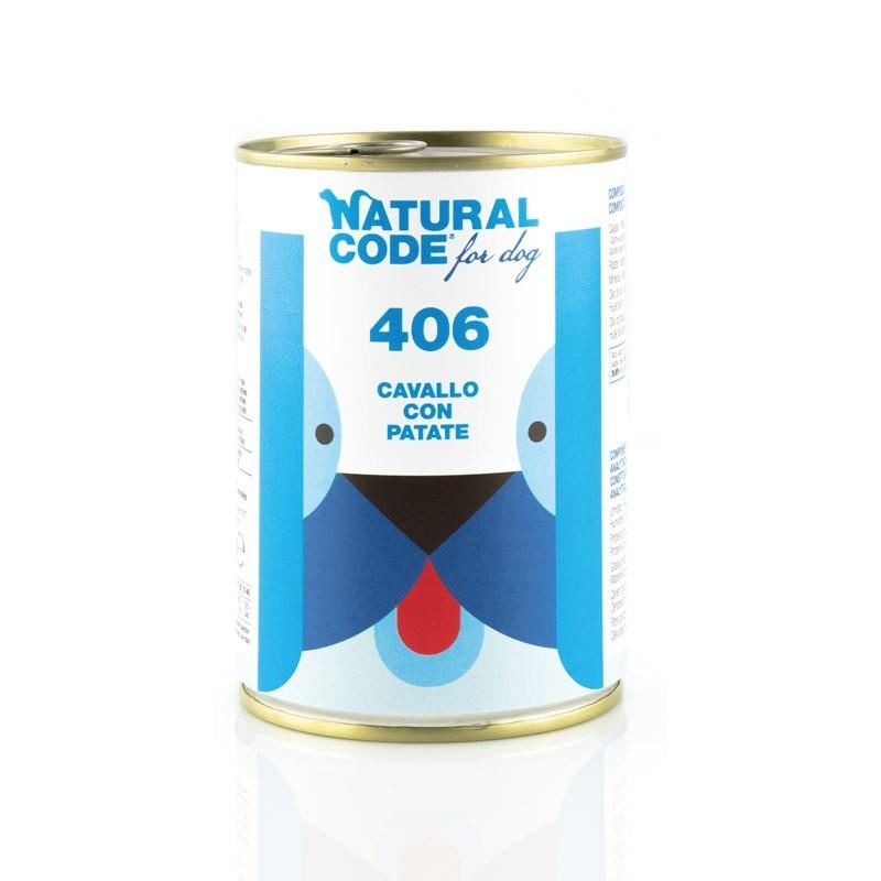 Natural Code 406 Cavallo con Patate Umido per Cani