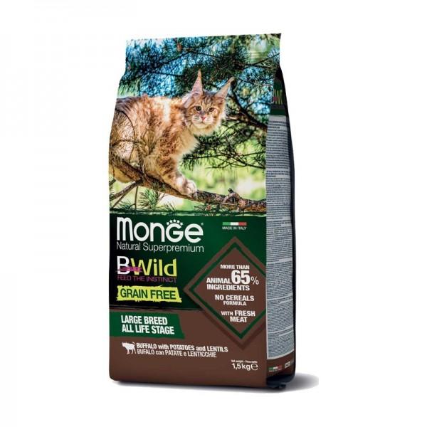 Monge Cat BWild Grain Free Large Breed Bufalo con Patate e Lenticchie
