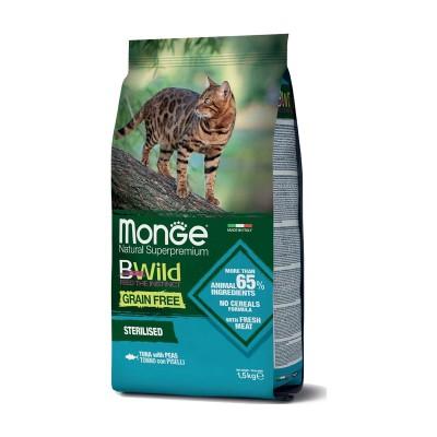 Monge Cat BWild Grain Free Sterilised Adult Tonno e Piselli