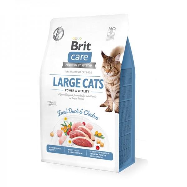 Brit Care Grain Free Anatra Fresca e Pollo Adult Large Breeds per Gatti