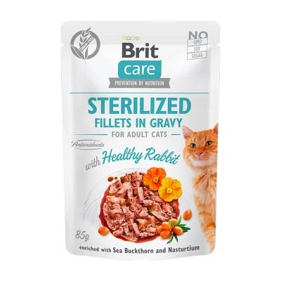 Brit Care Sterilized Filetti di Coniglio in Salsa per Gatti