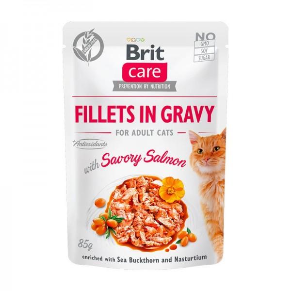 Brit Care Sterilized Filetti con Salmone in Salsa per Gatti