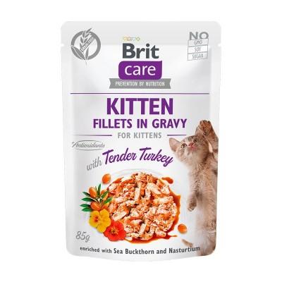 Brit Care Kitten Filetti con Tacchino in Salsa per Gattini