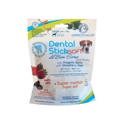 Dalla Grana Officinalis Dental Stick Soft Fragola e Salvia del Buongiorno Large per Cani