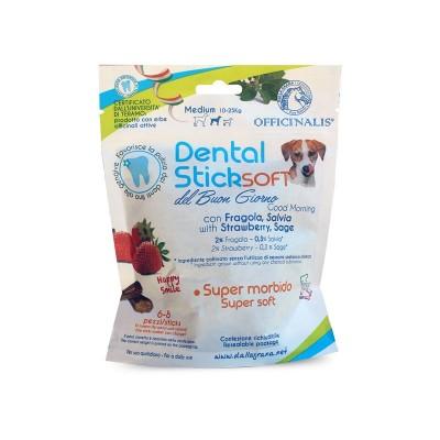 Dalla Grana Officinalis Dental Stick Medium Fragola e Salvia del Buongiorno per Cani