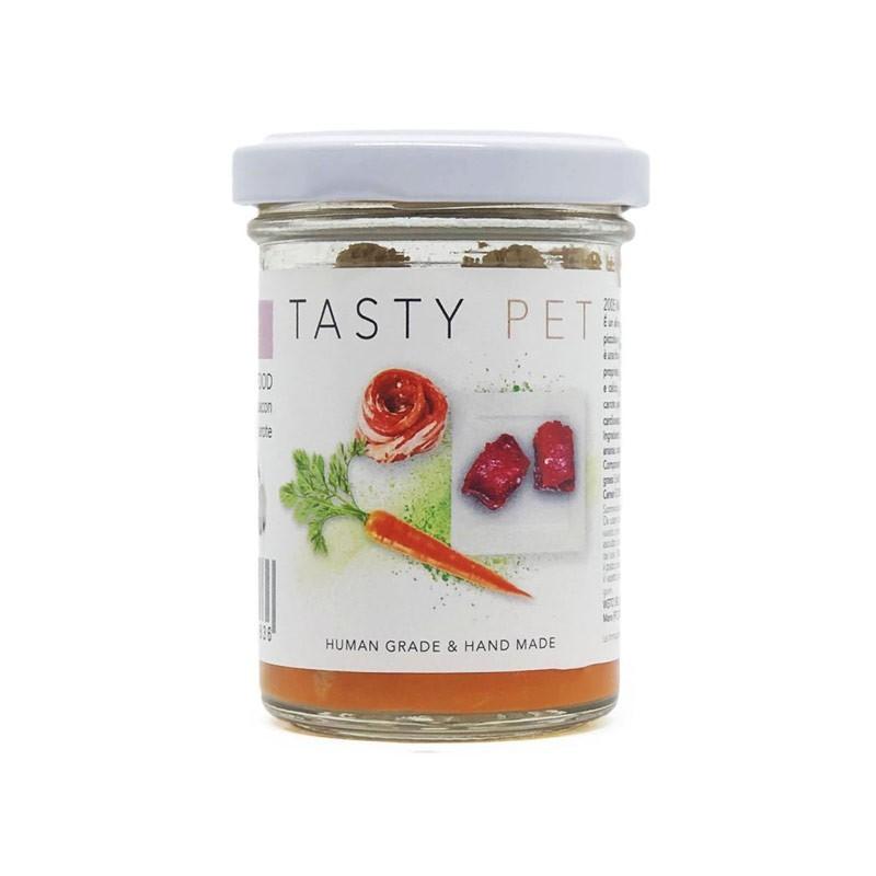 Tasty Pet Manzo e Carote in Vasocottura Umido per Cani
