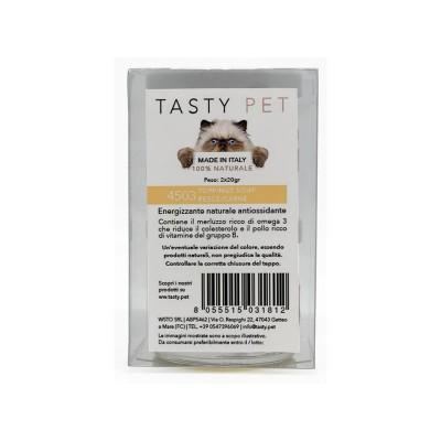 Tasty Pet Fumetto di Carne e Pesce Toppings Soup per Gatti