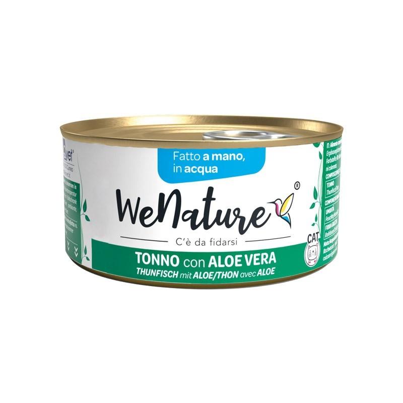 We Nature Tonno con Aloe Vera in Acqua Umido per Gatti