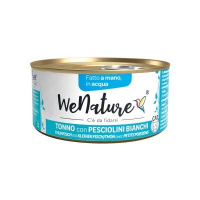 We Nature Tonno con Pesciolini Bianchi in Acqua Umido per Gatti
