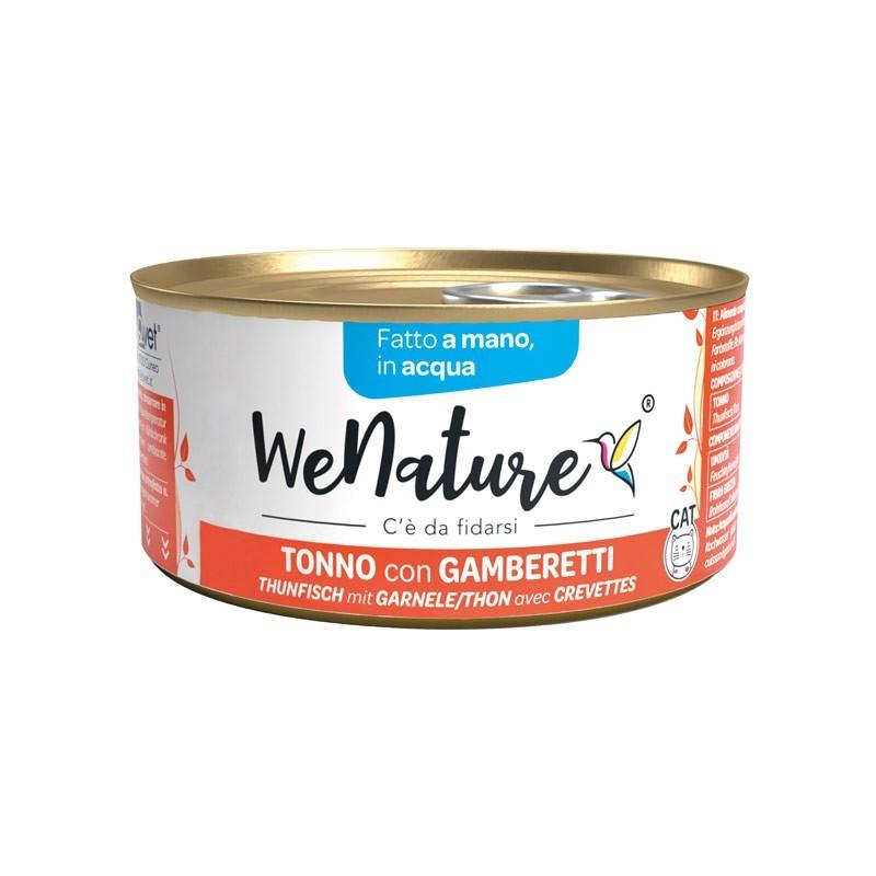 We Nature Tonno con Gamberetti in Acqua Umido per Gatti