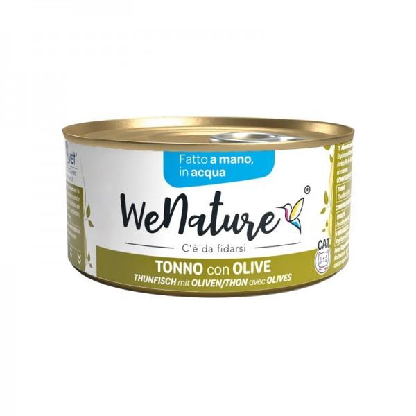 We Nature Tonno con Olive in Acqua Umido per Gatti