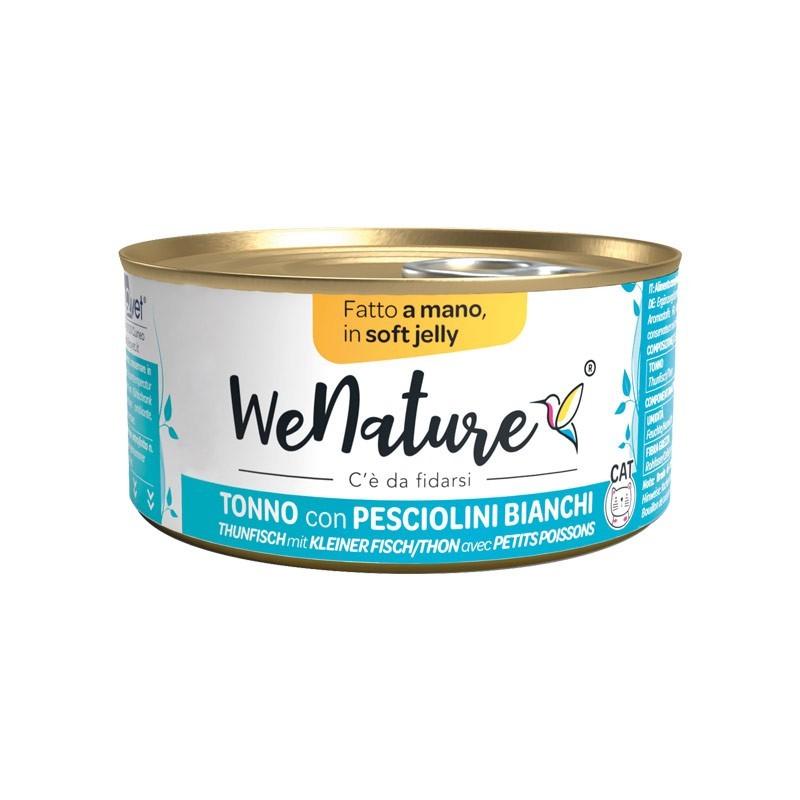 We Nature Tonno con Pesciolini Bianchi Soft Jelly Umido per Gatti