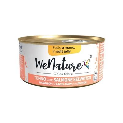We Nature Tonno con Salmone Selvatico Soft Jelly Umido per Gatti