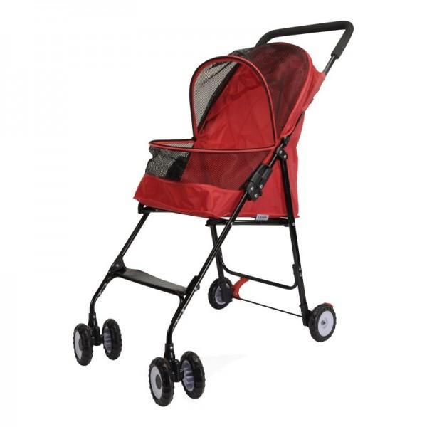 Camon Passeggino Simple Pet Stroller Rosso per Cani e Gatti