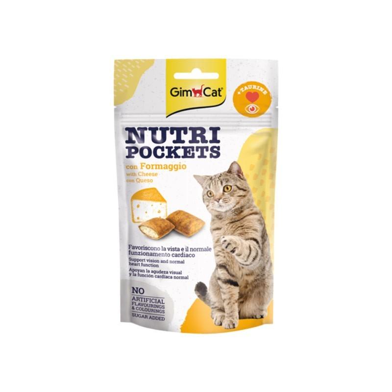 Gimpet Nutri Pockets con Formaggio e Taurina per Gatto