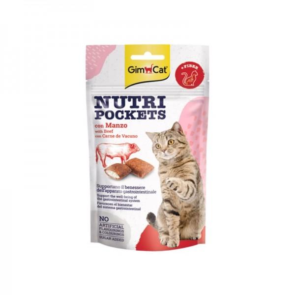 Gimpet Nutri Pockets con Manzo e Malto per Gatto