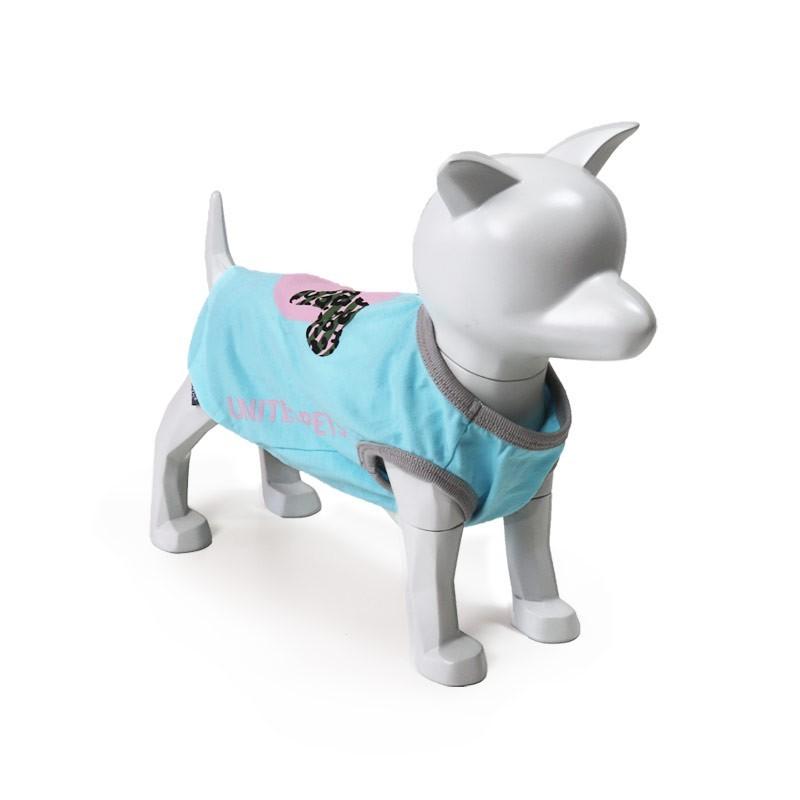 United Pets T-Dog Azzurro Maglietta per Cani