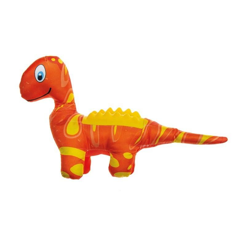 Imac Plush Dino con Schiena in Plastica per Cani
