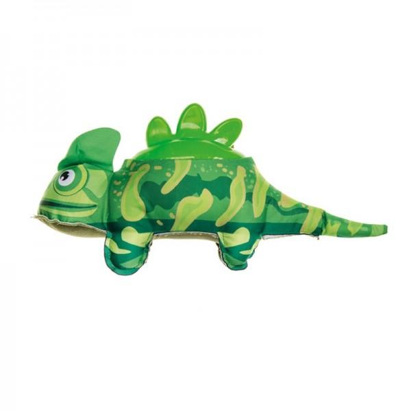 Imac Plush Iguana con Schiena in Plastica per Cani