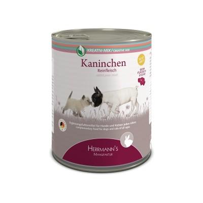Herrmann's Manufaktur Coniglio Carne Pura Umido per Cani