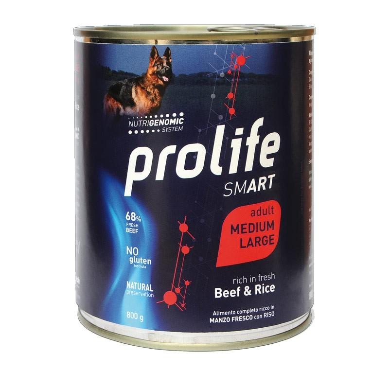Prolife Smart Adult Medium/Large Manzo e Riso Umido per Cani
