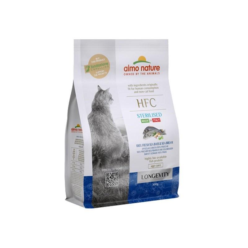 Almo Nature HFC Longevity Sterilised Spigola e Orata per Gatti