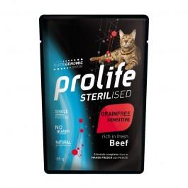 Prolife Sterilized Grain Free Sensitive Manzo per Gatti