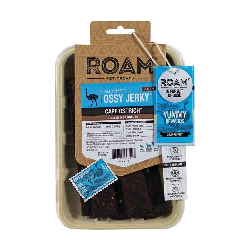 Roam Pet Treats Strisce di Struzzo per Cani