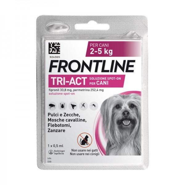 Frontline Tri-Act Antiparassitario Cani da 2 a 5 kg Pipetta Singola